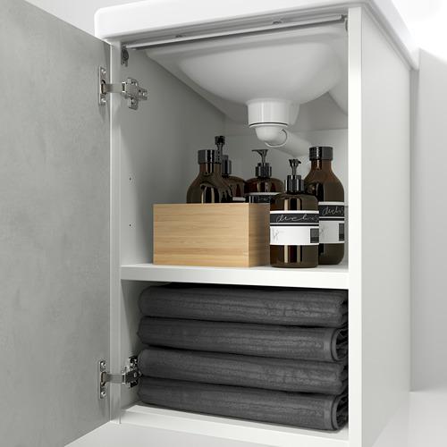 TVÄLLEN/ENHET - wash-basin cabinet with 1 door, concrete effect/white Pilkån tap | IKEA Hong Kong and Macau - PE786196_S4