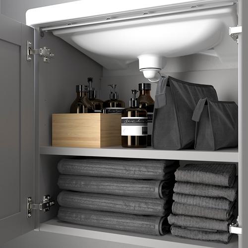 TVÄLLEN/ENHET - 雙門洗手盆櫃, grey frame/grey Lillsvan tap | IKEA 香港及澳門 - PE786206_S4