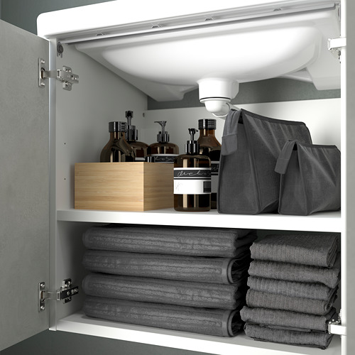 TVÄLLEN/ENHET - wash-basin cabinet with 2 doors, concrete effect/white Pilkån tap   IKEA Hong Kong and Macau - PE786208_S4