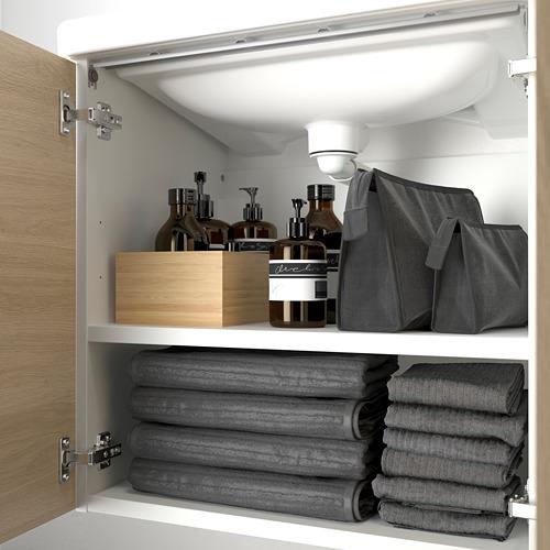 TVÄLLEN/ENHET - wash-basin cabinet with 2 doors, oak effect/white Pilkån tap | IKEA Hong Kong and Macau - PE786212_S4