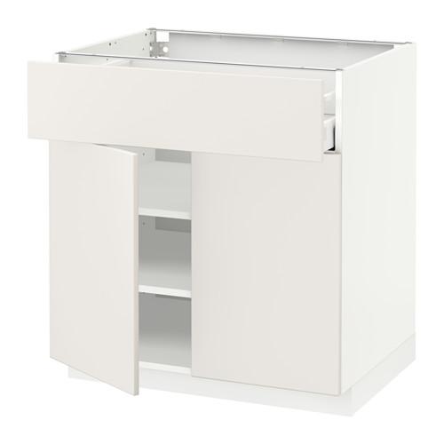 METOD/MAXIMERA - 雙門地櫃連抽屜, white/Veddinge white | IKEA 香港及澳門 - PE515149_S4
