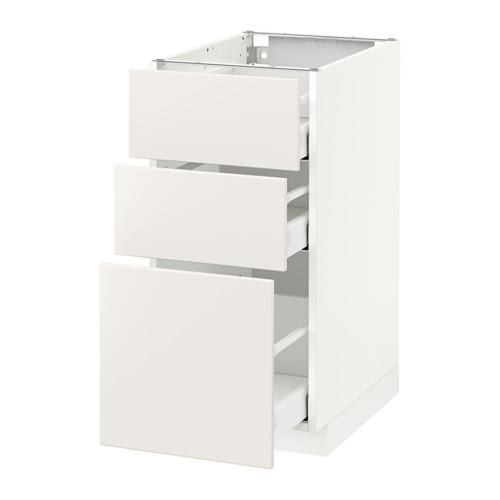 METOD - base cabinet with 3 drawers, white Maximera/Veddinge white | IKEA Hong Kong and Macau - PE515157_S4