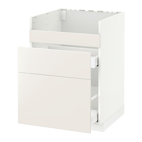 METOD/MAXIMERA - base cb f HAVSEN snk/3 frnts/2 drws, white/Veddinge white | IKEA Hong Kong and Macau - PE515822_S4