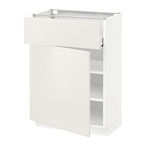 METOD/MAXIMERA - base cabinet with drawer/door, white/Veddinge white | IKEA Hong Kong and Macau - PE515798_S4