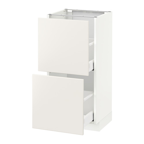 METOD - base cabinet with 2 drawers, white Maximera/Veddinge white | IKEA Hong Kong and Macau - PE515799_S4