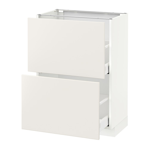 METOD - base cabinet with 2 drawers, white Maximera/Veddinge white | IKEA Hong Kong and Macau - PE515800_S4