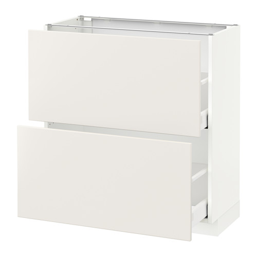 METOD - base cabinet with 2 drawers, white Maximera/Veddinge white | IKEA Hong Kong and Macau - PE515801_S4