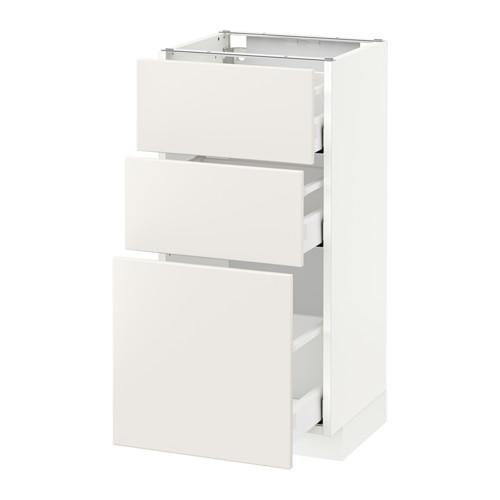 METOD - base cabinet with 3 drawers, white Maximera/Veddinge white | IKEA Hong Kong and Macau - PE515805_S4