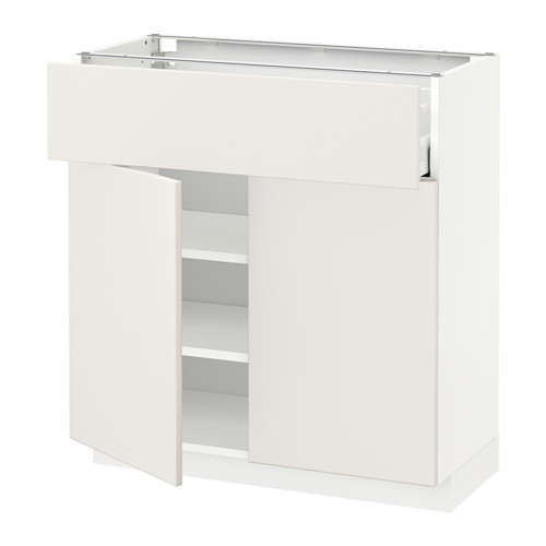 METOD/MAXIMERA - base cabinet with drawer/2 doors, white/Veddinge white | IKEA Hong Kong and Macau - PE515812_S4