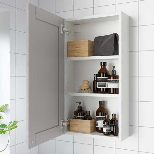 ENHET - 單門鏡櫃, 白色/灰色 框架   IKEA 香港及澳門 - PE786275_S4