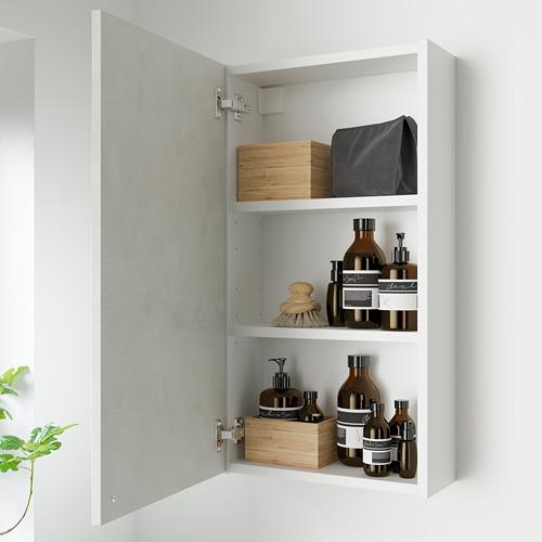 ENHET - 雙門吊櫃連2層板, 白色/仿混凝土   IKEA 香港及澳門 - PE786278_S4