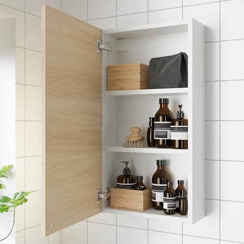 ENHET - wall cb w 2 shlvs/doors, white/oak effect | IKEA Hong Kong and Macau - PE786277_S4