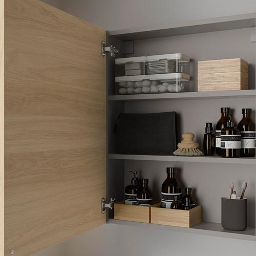ENHET - 雙門吊櫃連2層板, 灰色/橡木紋 | IKEA 香港及澳門 - PE786285_S4
