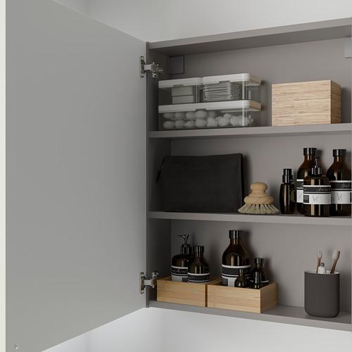 ENHET - wall cb w 2 shlvs/doors, grey/white   IKEA Hong Kong and Macau - PE786286_S4