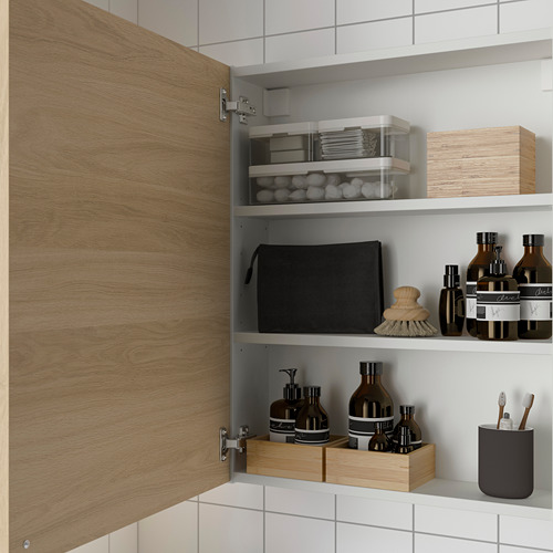 ENHET - 雙門吊櫃連2層板, 白色/橡木紋 | IKEA 香港及澳門 - PE786297_S4