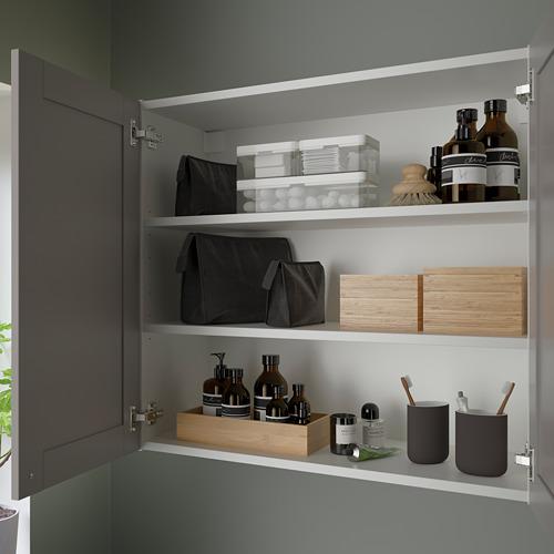 ENHET - 雙門鏡櫃, 白色/灰色 框架 | IKEA 香港及澳門 - PE786319_S4