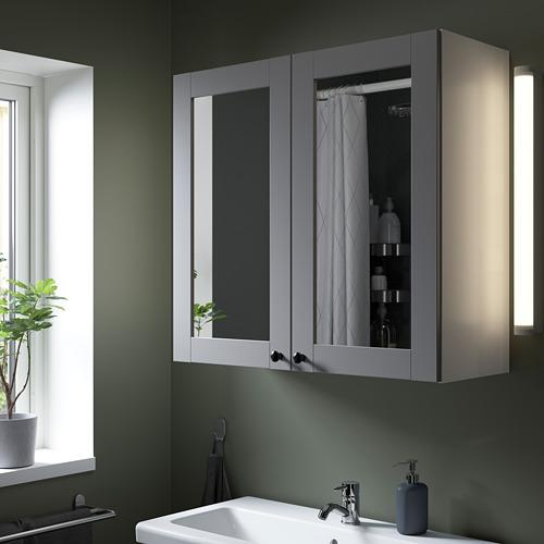 ENHET - 雙門鏡櫃, 白色/灰色 框架 | IKEA 香港及澳門 - PE786329_S4