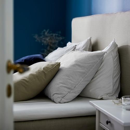 BERGPALM - quilt cover and pillowcase, grey/stripe, 150x200/50x80 cm  | IKEA Hong Kong and Macau - PE731567_S4