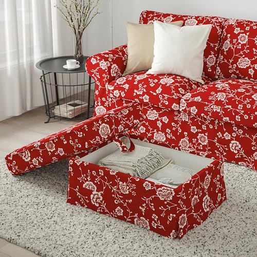 EKTORP - 腳凳, Virestad 紅色/白色 | IKEA 香港及澳門 - PE774455_S4