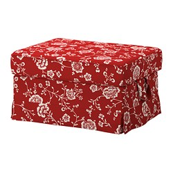 EKTORP - footstool, Virestad red/white | IKEA Hong Kong and Macau - PE774456_S3