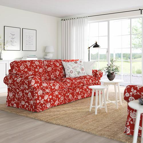 EKTORP - 3-seat sofa, Virestad red/white | IKEA Hong Kong and Macau - PE774496_S4