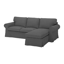 EKTORP - 三座位梳化連躺椅, Hallarp 灰色 | IKEA 香港及澳門 - PE774501_S3