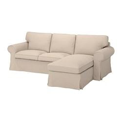 EKTORP - 三座位梳化連躺椅, Hallarp 米黃色 | IKEA 香港及澳門 - PE774503_S3