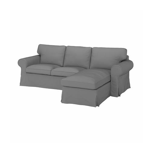 EKTORP - cover for 3-seat sofa, with chaise longue/Remmarn light grey | IKEA Hong Kong and Macau - PE774505_S4