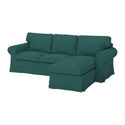 EKTORP - 三座位梳化連躺椅, Totebo 深湖水綠色 | IKEA 香港及澳門 - PE774507_S3