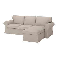EKTORP - 3-seat sofa with chaise longue, Totebo light beige | IKEA Hong Kong and Macau - PE774509_S3