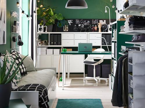 LOBERGET/BLYSKÄR - swivel chair, white | IKEA Hong Kong and Macau - PH168627_S4