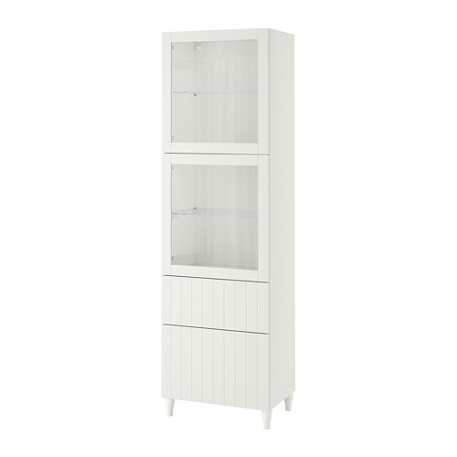 BESTÅ - 玻璃門貯物組合, white/Sutterviken/Kabbarp white clear glass | IKEA 香港及澳門 - PE786352_S4