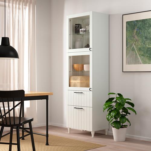 BESTÅ - 玻璃門貯物組合, white/Sutterviken/Kabbarp white clear glass | IKEA 香港及澳門 - PE786353_S4