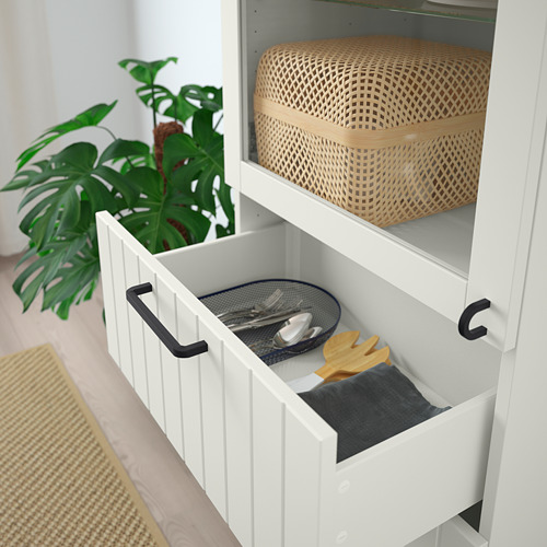 BESTÅ - 玻璃門貯物組合, white/Sutterviken/Kabbarp white clear glass | IKEA 香港及澳門 - PE786351_S4