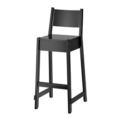 NORRÅKER - 高腳凳連靠背, 黑色 | IKEA 香港及澳門 - PE641228_S3