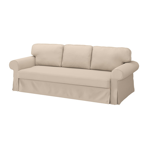 VRETSTORP - cover for 3-seat sofa-bed, Hallarp beige | IKEA Hong Kong and Macau - PE774597_S4