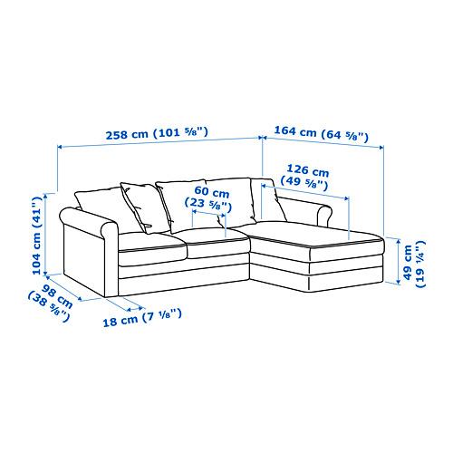 GRÖNLID - 3-seat sofa, with chaise longue/Sporda natural | IKEA Hong Kong and Macau - PE688696_S4