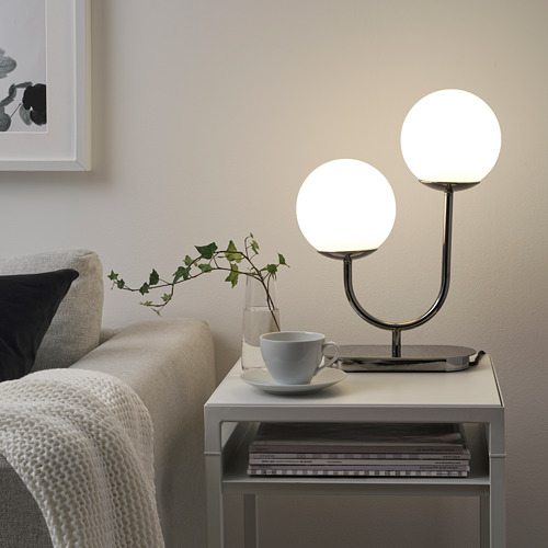 SIMRISHAMN - 座檯燈, 鍍鉻/奶白色 玻璃 | IKEA 香港及澳門 - PE774641_S4