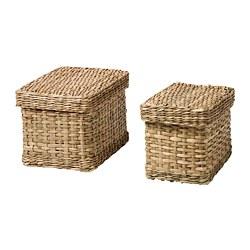 LURPASSA - 連蓋盒, 2件套裝, 海草 | IKEA 香港及澳門 - PE786497_S3
