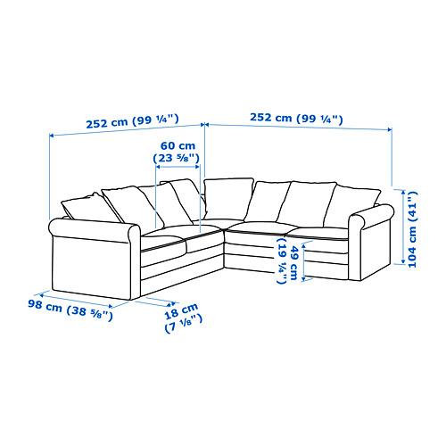 GRÖNLID - corner sofa, 4-seat, Ljungen light red | IKEA Hong Kong and Macau - PE688700_S4