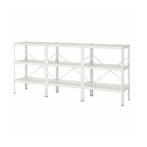 BROR - 3 sections/shelves, 254x40x110 cm, white   IKEA Hong Kong and Macau - PE786528_S4