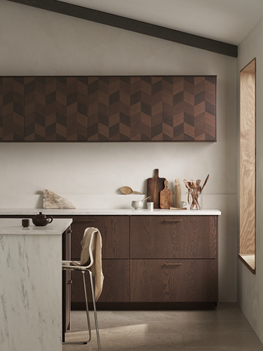 METOD - 吊櫃連推按式開關, white Hasslarp/brown patterned | IKEA 香港及澳門 - PH176082_S4