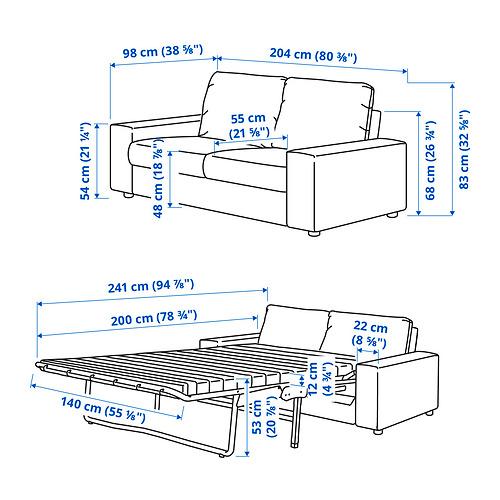 VIMLE - 兩座位梳化床, 有寬闊扶手/Gunnared 暗灰色 | IKEA 香港及澳門 - PE831254_S4