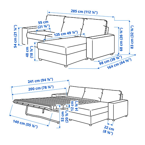 VIMLE - 三座位梳化連躺椅, with wide armrests Gunnared/medium grey | IKEA 香港及澳門 - PE831250_S4