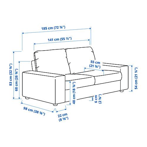 VIMLE - 2-seat sofa, with wide armrests/Hallarp beige | IKEA Hong Kong and Macau - PE831246_S4
