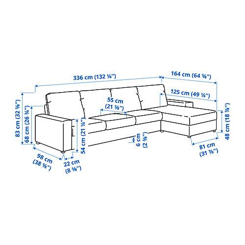 VIMLE - 4-seat sofa with chaise longue, with wide armrests/Saxemara black-blue | IKEA Hong Kong and Macau - PE831258_S4