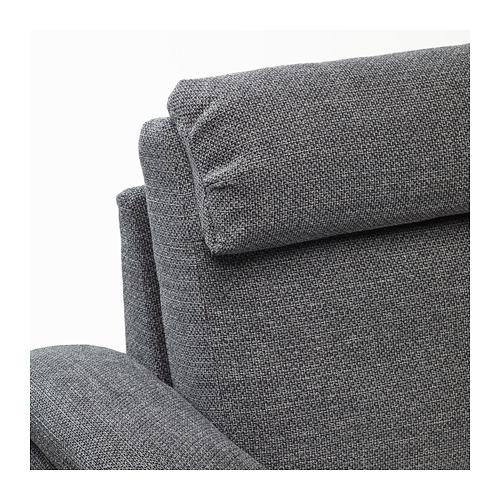 LIDHULT - 四座位梳化, 連躺椅/Lejde 灰色/黑色 | IKEA 香港及澳門 - PE688934_S4