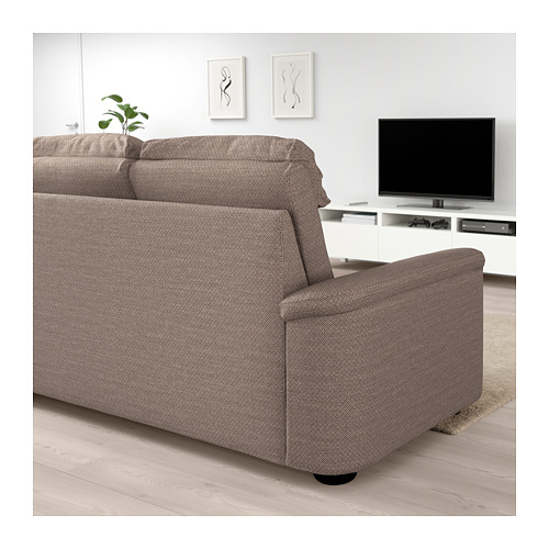 LIDHULT - corner sofa, 4-seat, Lejde beige/brown | IKEA Hong Kong and Macau - PE688962_S4