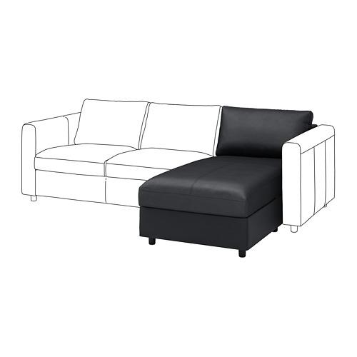 VIMLE - chaise longue section, Grann/Bomstad black | IKEA Hong Kong and Macau - PE774708_S4