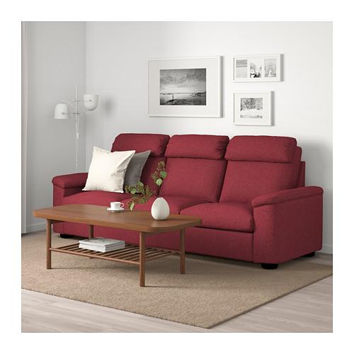 LIDHULT - 3-seat sofa, Lejde red-brown   IKEA Hong Kong and Macau - PE688990_S4